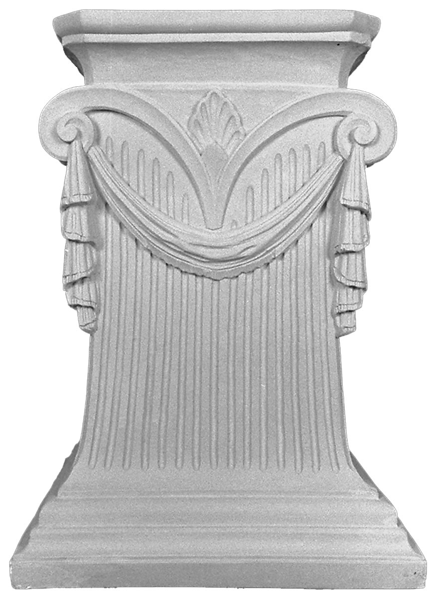Cast Table Pedestal - Decoratively draped