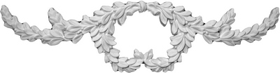 Olive Branch Wreath | Cast Plaster Applique